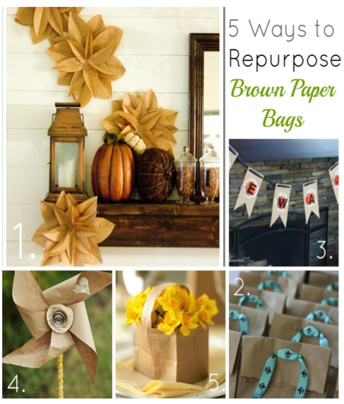 5 great projects using brown paper bags for Brown paper bag craft