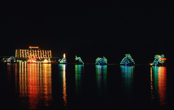 Walt Disney World Electrical Water Pageant at Seven Seas Lagoon