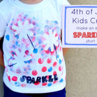 Kids Craft: A DIY Sparkler Tee for the 4th of July!