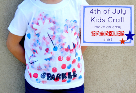 Kids Craft A Diy Sparkler Tee For The 4th Of July