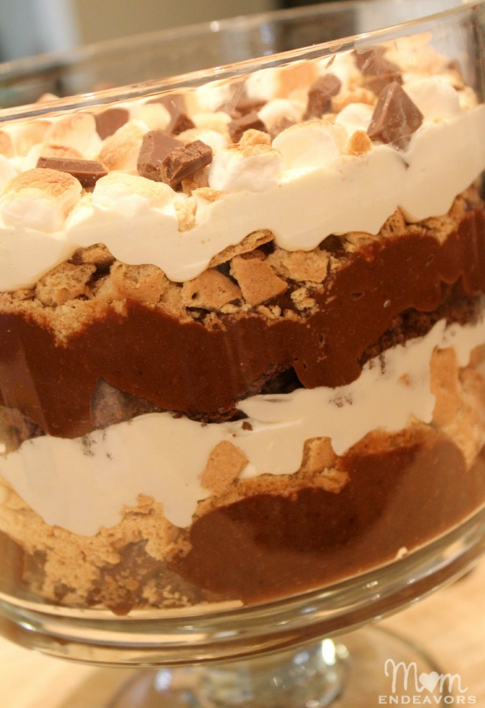 Brownie S'mores Trifle Dessert