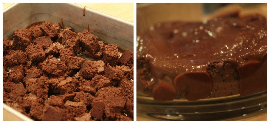 Brownies trifle