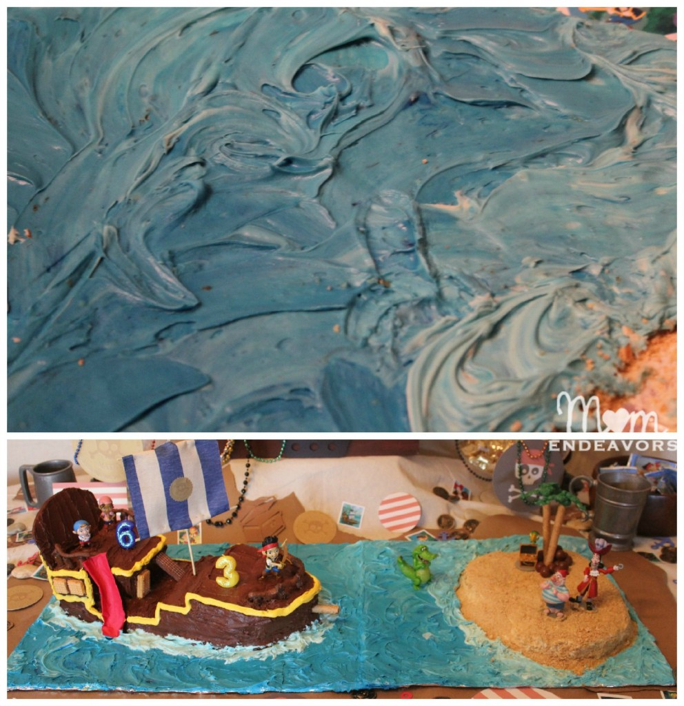 Cake decorating - Making waves with frosting