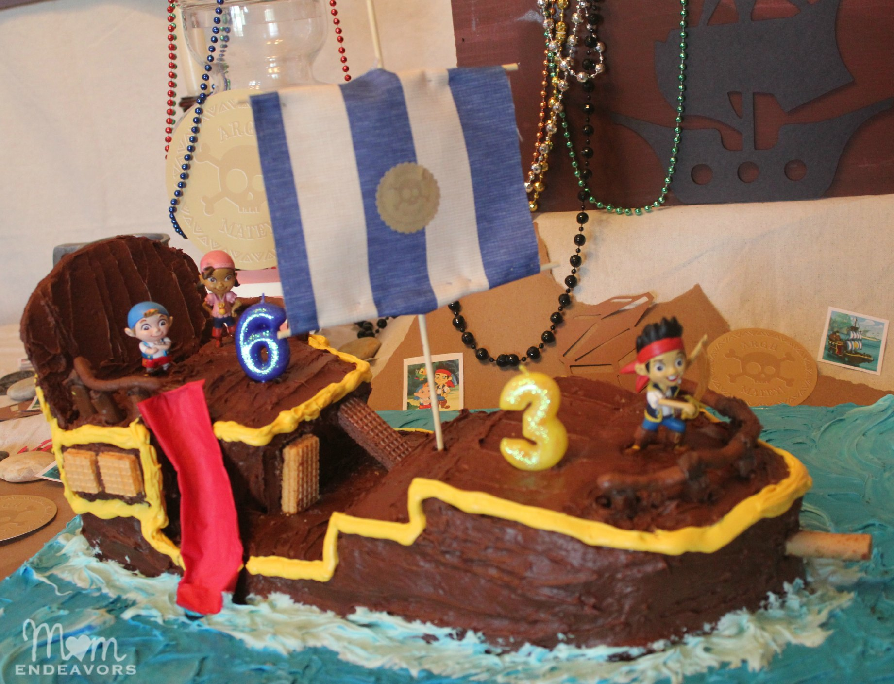 DIY Bucky Pirate Ship Cake Tutorial Jake and the Never Land Pirates