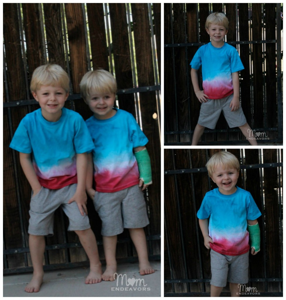 DIY Matching Patriotic Shirts for boys