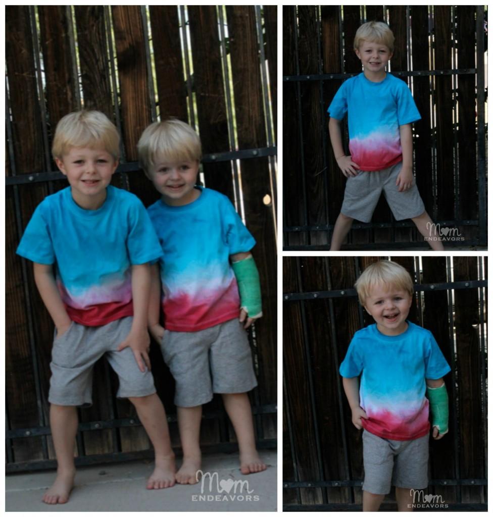 DIY Matching Patriotic Shirts for boys