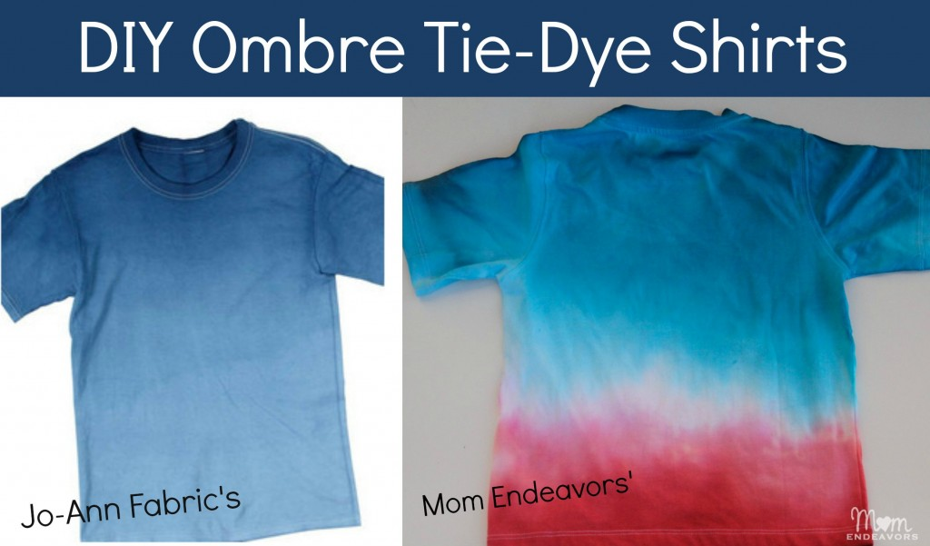 DIY Ombre T-Shirts #summerofjoann