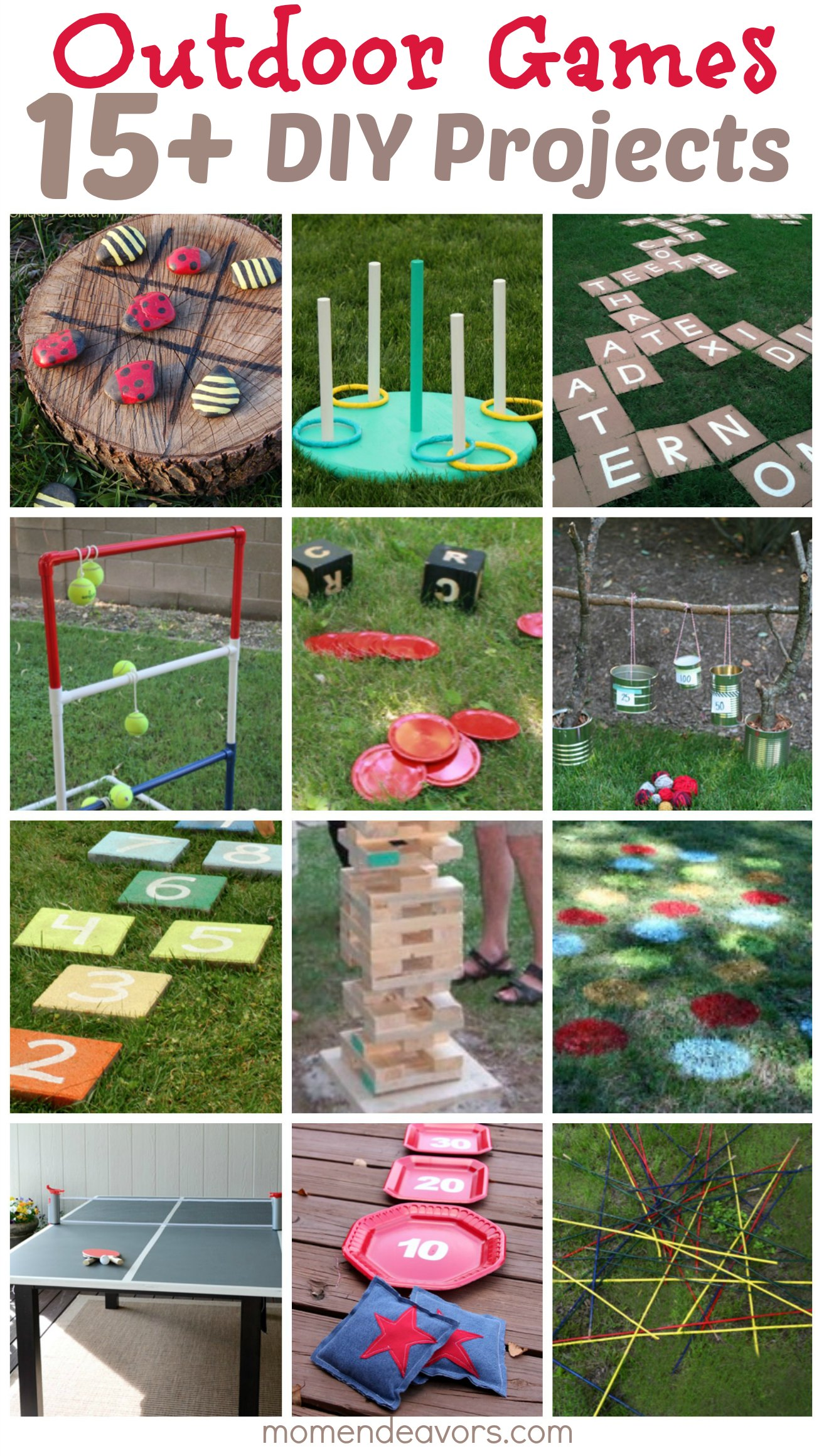 DIY Outdoor Games ? 15+ Awesome Project Ideas for Backyard Fun!