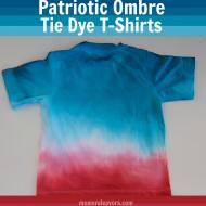DIY Patriotic Ombre Tie Dye T-Shirts