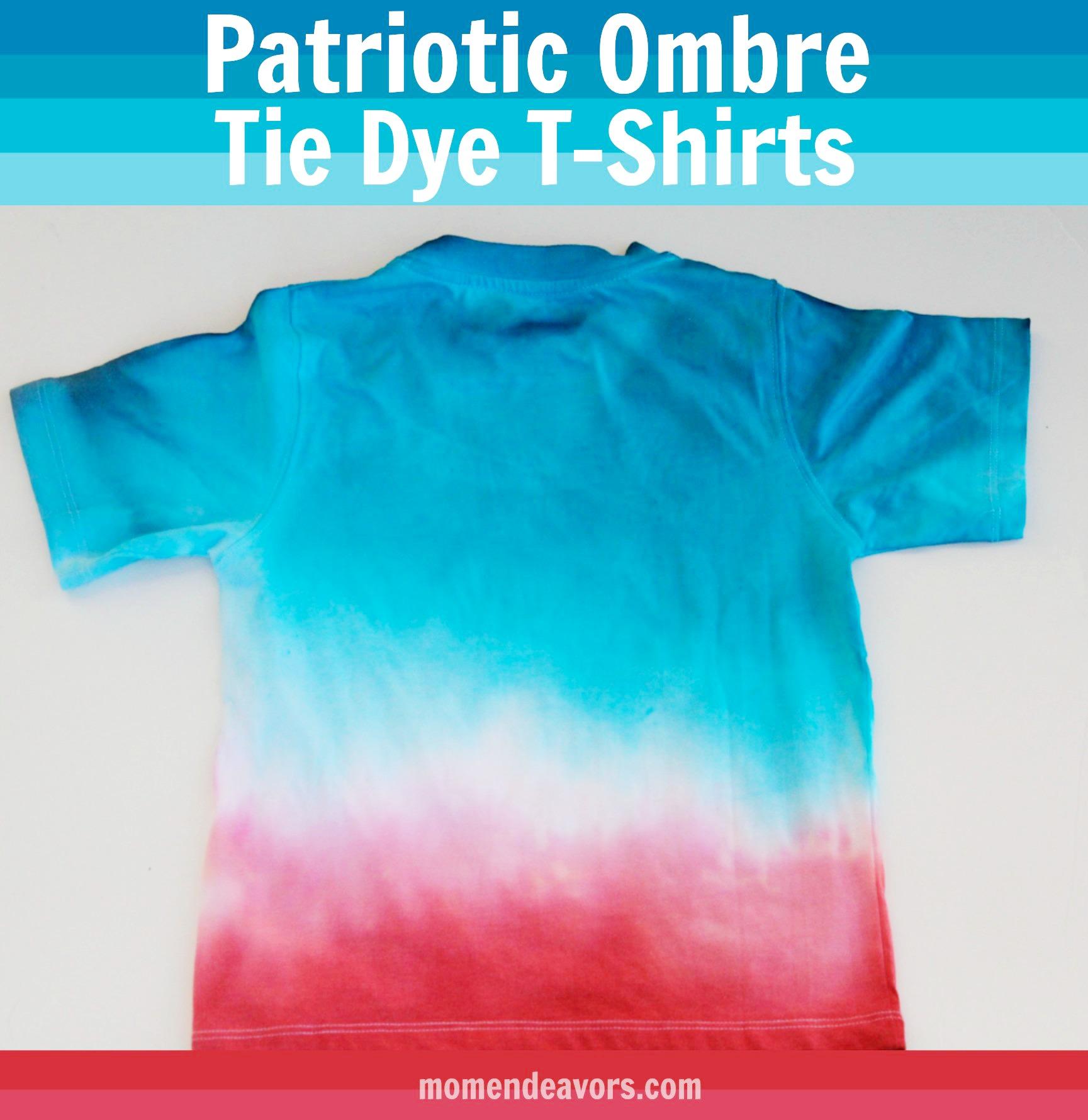 DIY Patriotic Tie-Dye T-Shirts