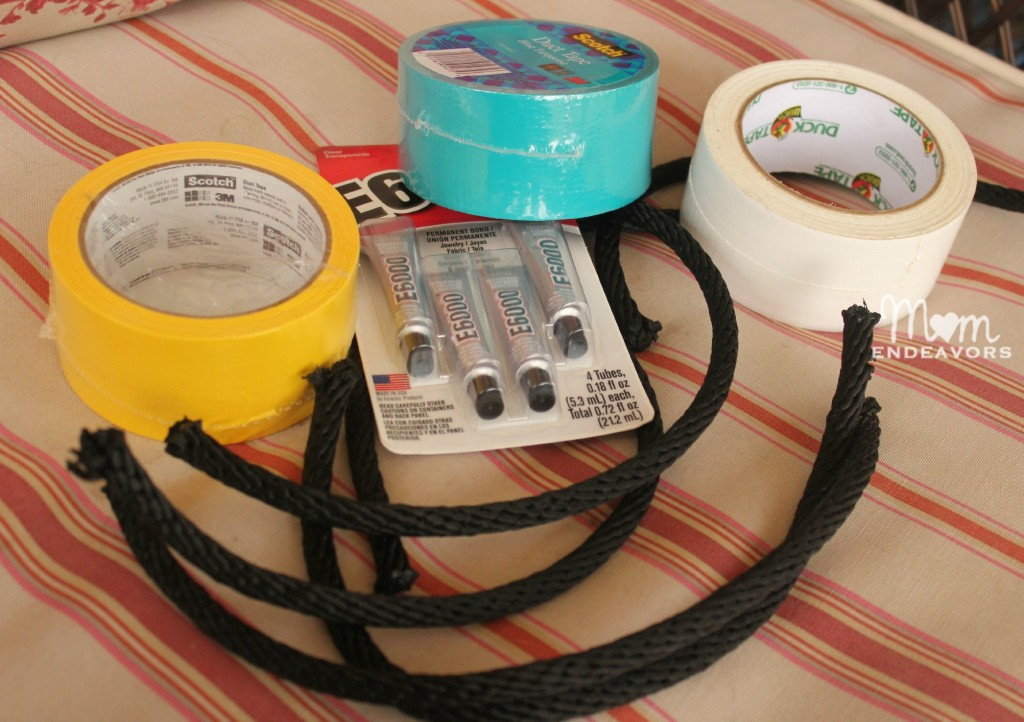 DIY Ring Toss supplies