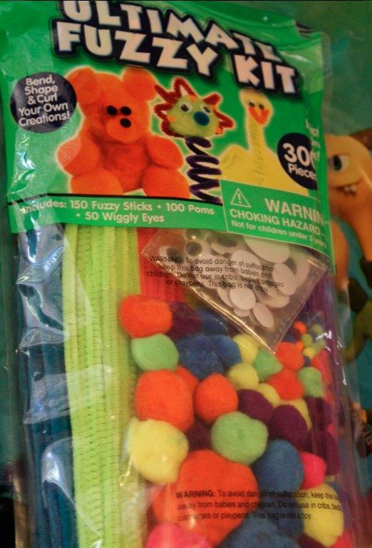 Fuzzy kids craft kit