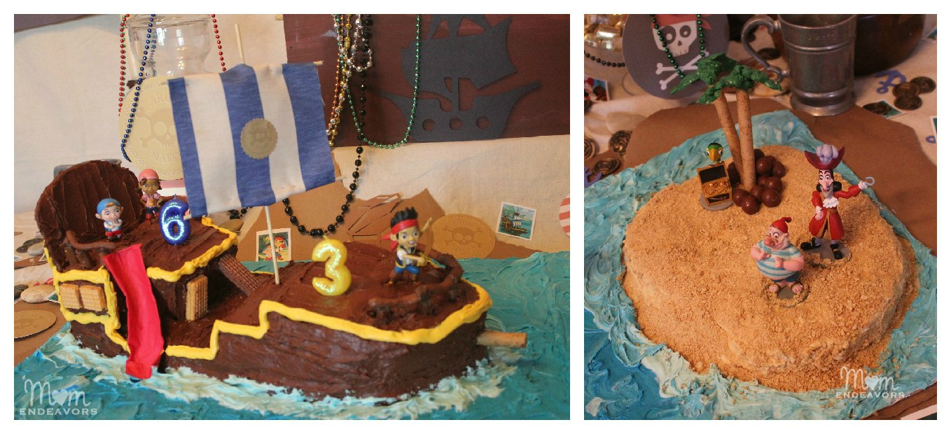 Awe Inspiring Diy Bucky Pirate Ship Cake Tutorial Jake And The Never Land Funny Birthday Cards Online Inifodamsfinfo