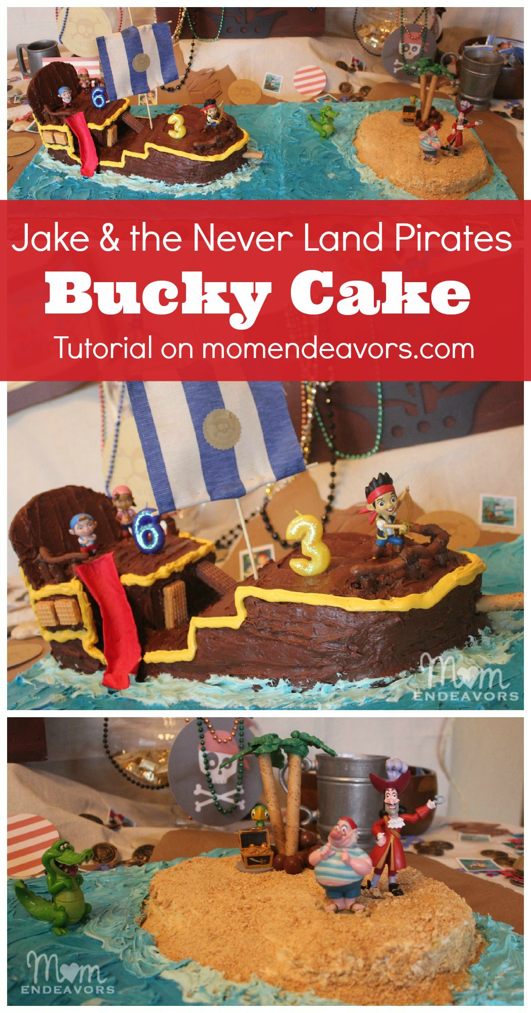 Magnificent Diy Bucky Pirate Ship Cake Tutorial Jake And The Never Land Birthday Cards Printable Trancafe Filternl