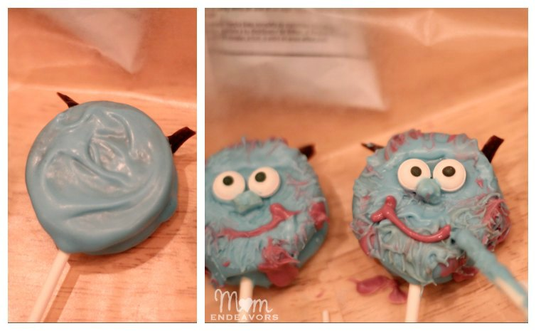 Making Sulley Oreo Pops