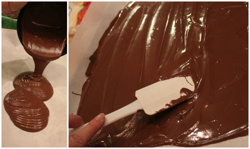 Making chocolate bark