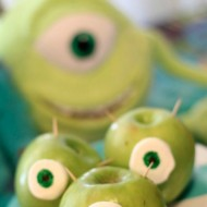 Monsters University Fun Food: Mike Wazowski Monster Apples