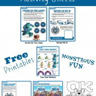FREE Printable Monsters University Activity Sheets #MonstersU