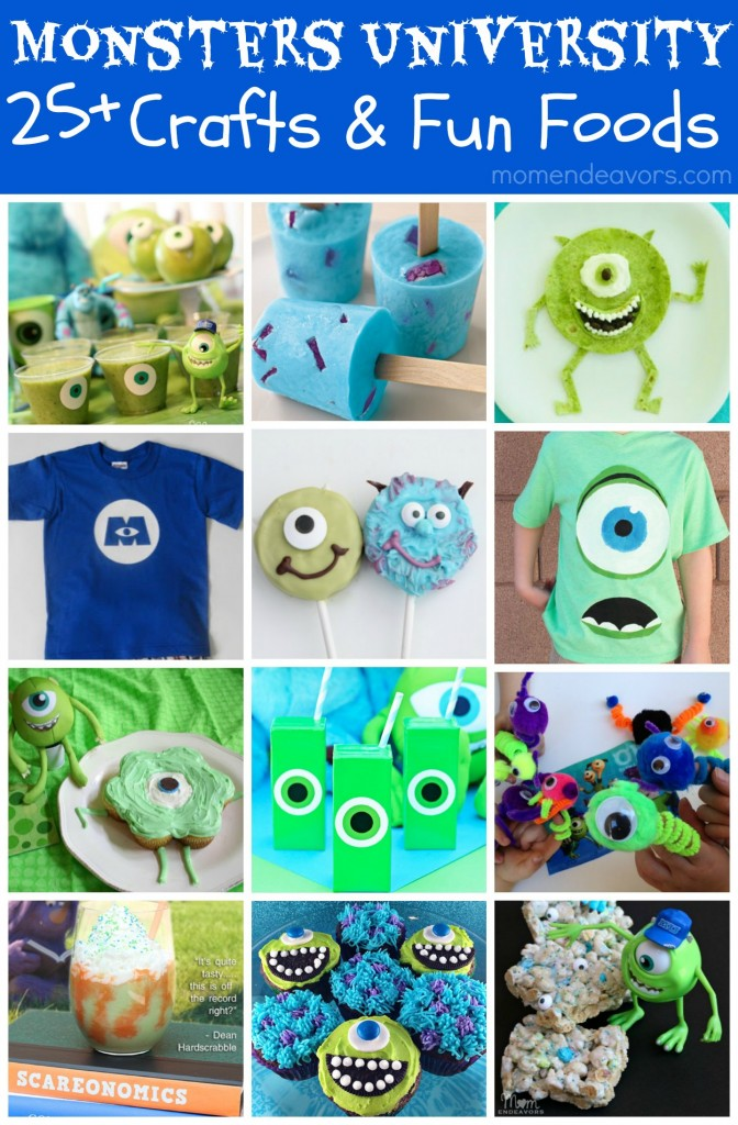 Monsters University Crafts & Fun Foods