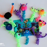 Kids Craft: Easy Monsters Finger Puppets