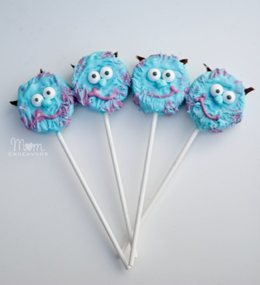 Mike Sulley Monsters Oreo Pops