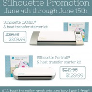 Silhouette Heat Transfer Vinyl Promotion