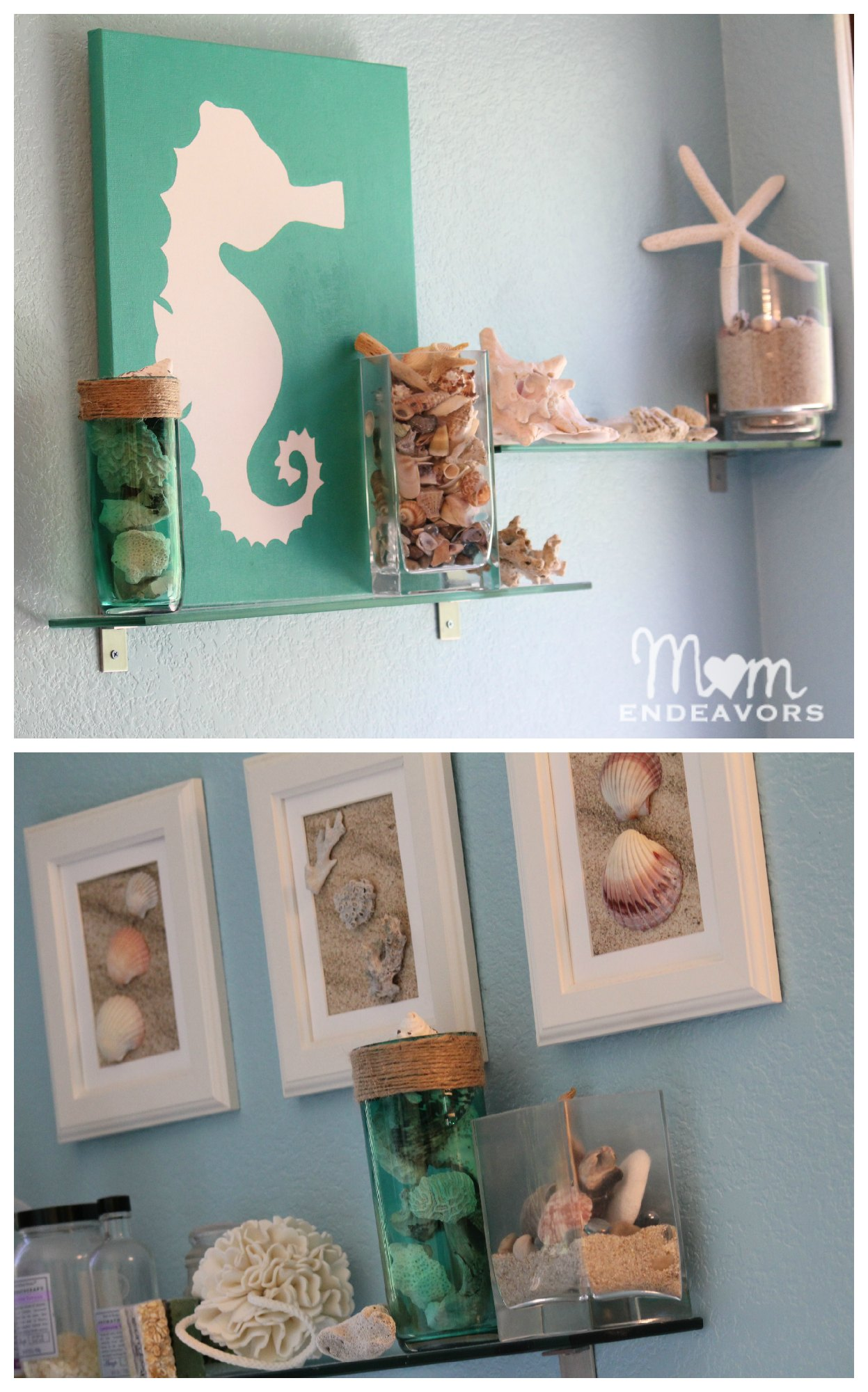 Diy beach bathroom decor for Bathroom designs diy