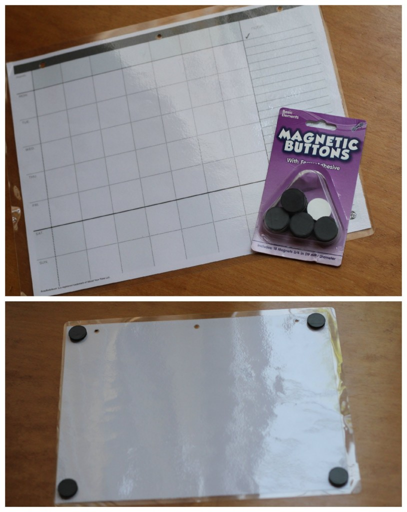 DIY Magnetic calendar