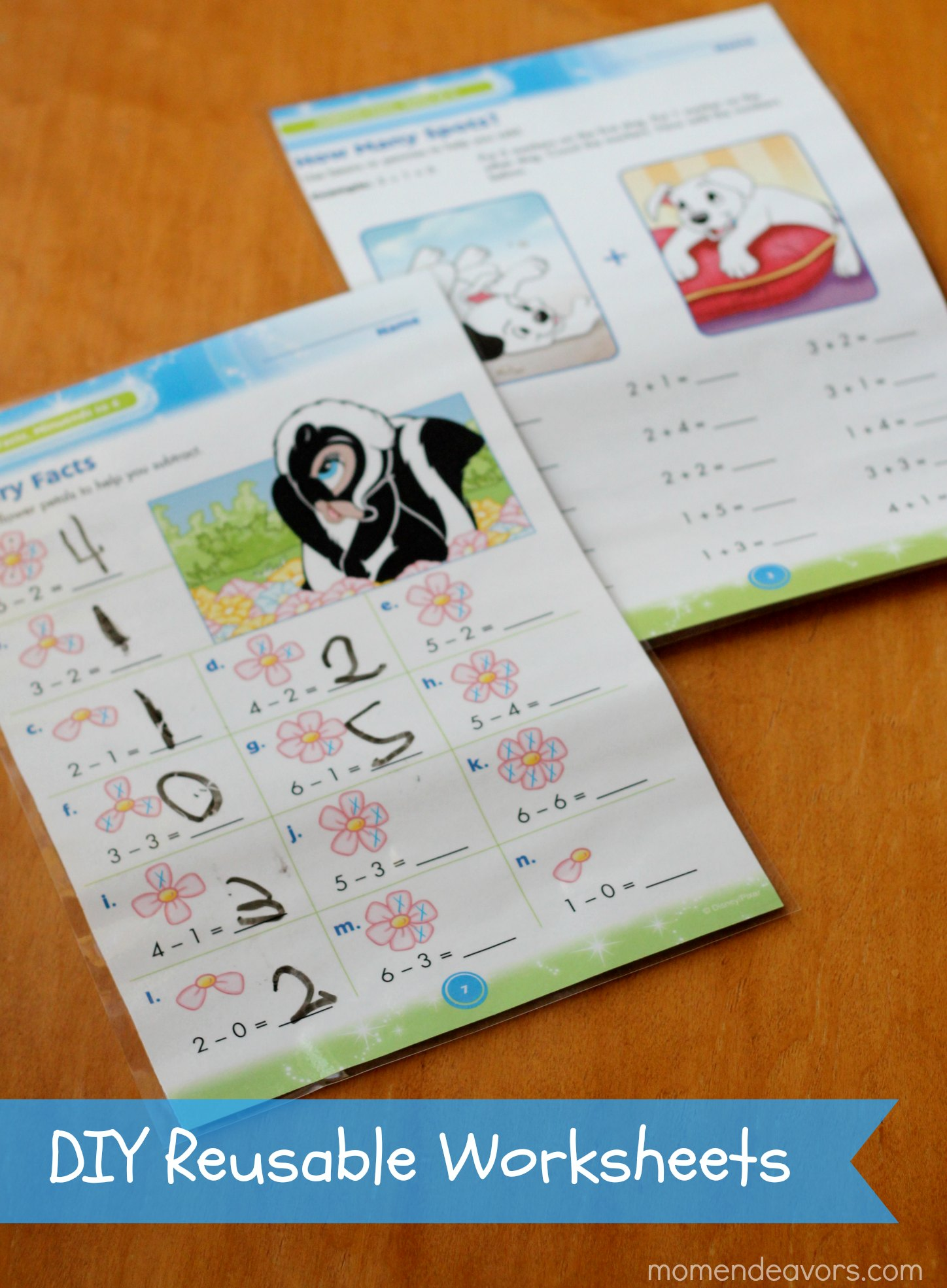 DIY Reusable Worksheets