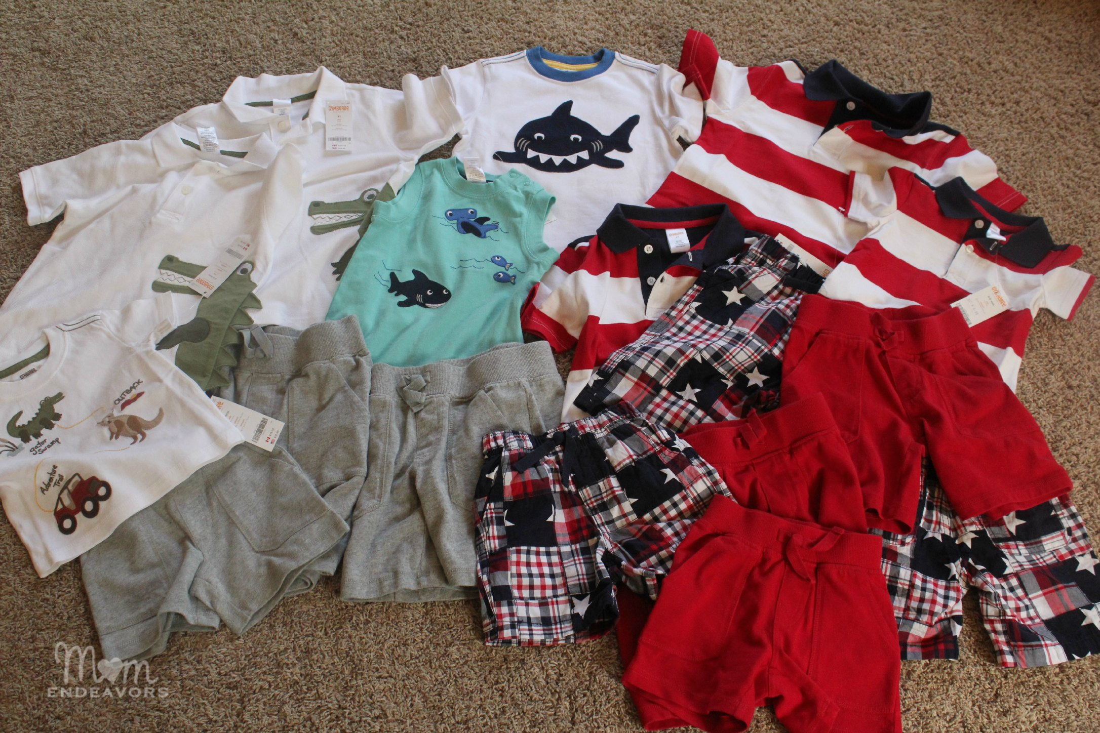 adorable matching summer for the boys at gymboree
