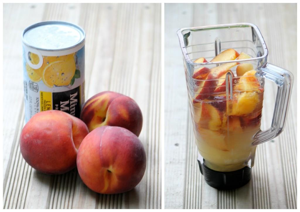Making Frozen Peach Lemonade
