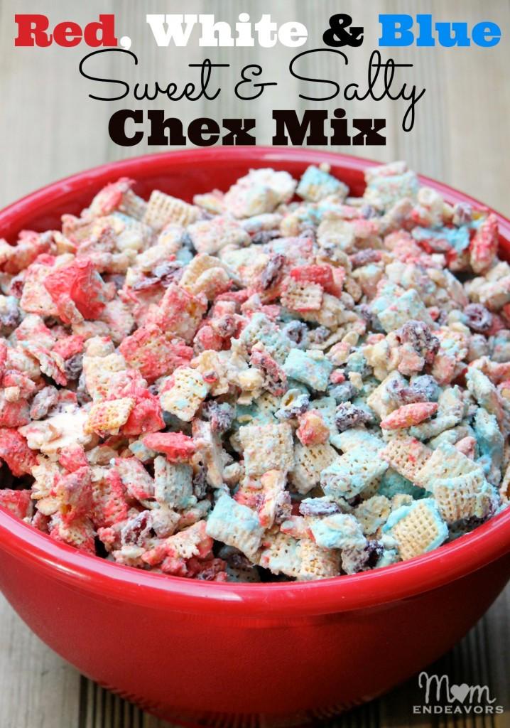 Patriotic Sweet & Salty Chex Mix