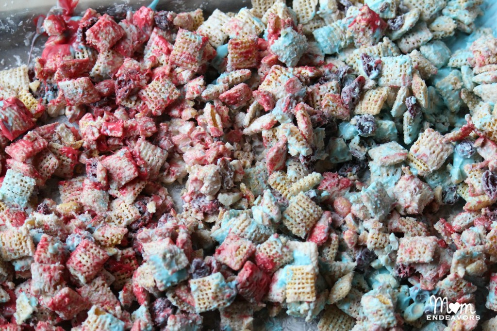 Red, White, & Blue Chex Mix