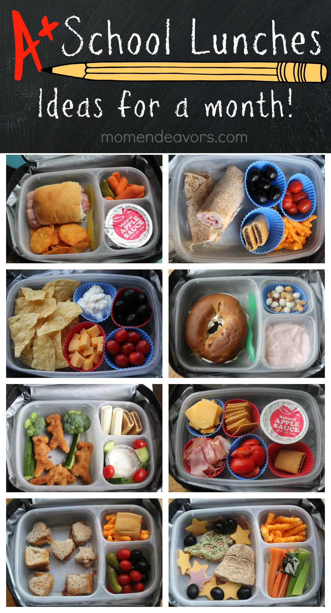 A Month Of Kid Approved School Lunches Easy Creative Ideas