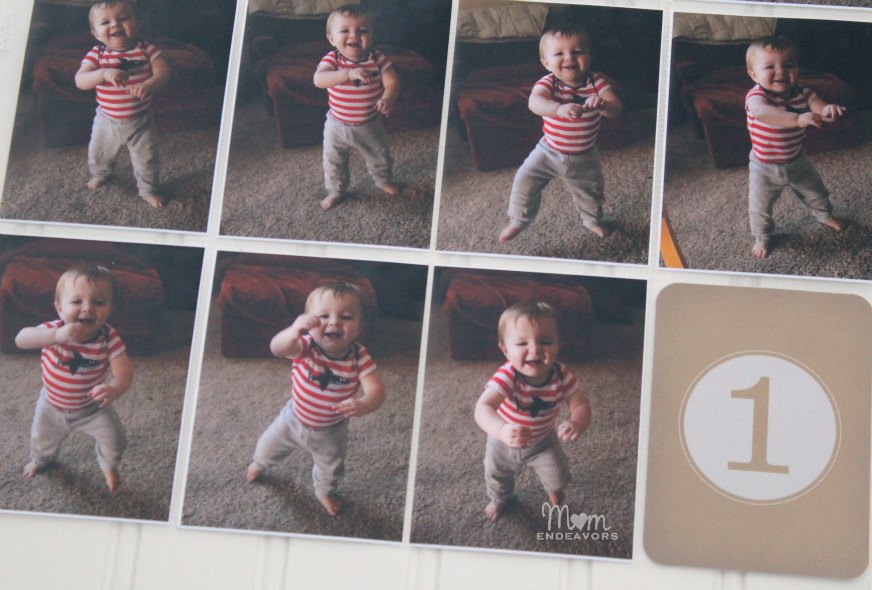 Baby's First Steps Project Life