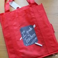 Easy DIY Chalkboard Teacher Tote – Great Back to School Gift!