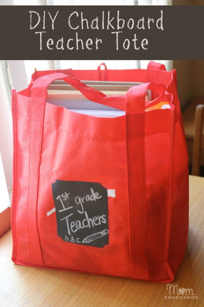 DIY Chalkboard Teacher Tote