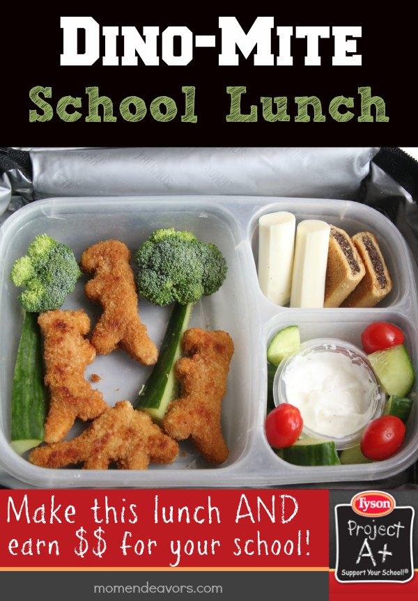 #Ad Dinosaur Chicken Nugget School Lunch Idea & Tyson's ...