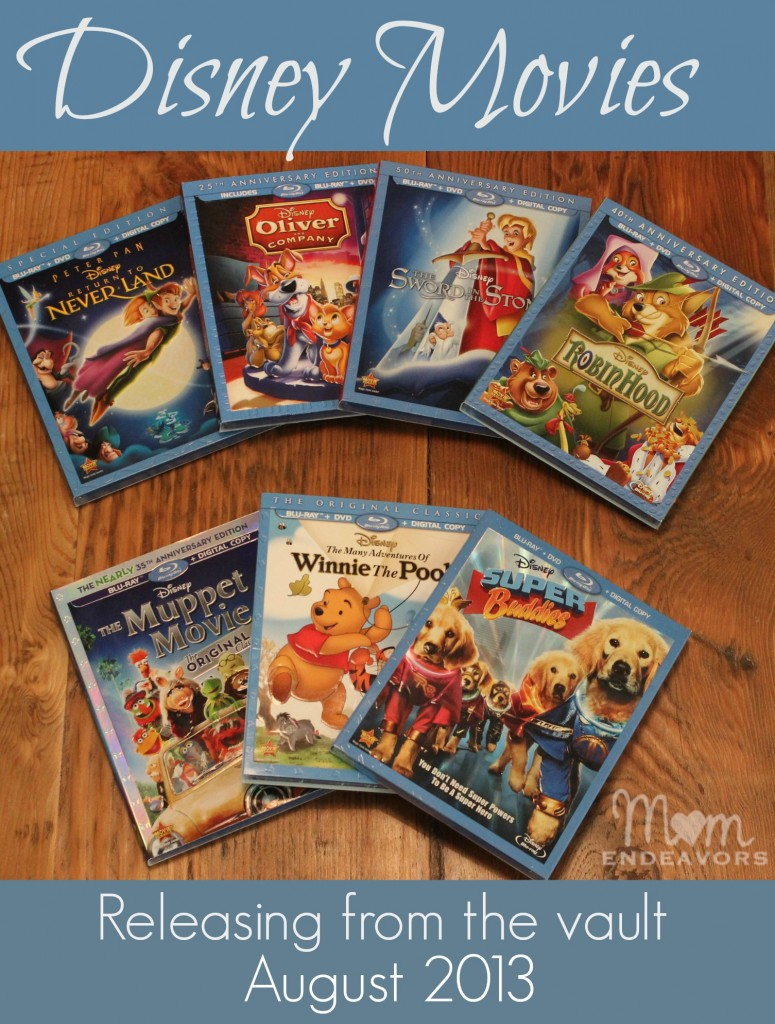 Disney Movies Blu-Ray Release