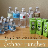Convenient & Fun Drinks for Back to School Lunches (with free printables!) #BTSIdeas