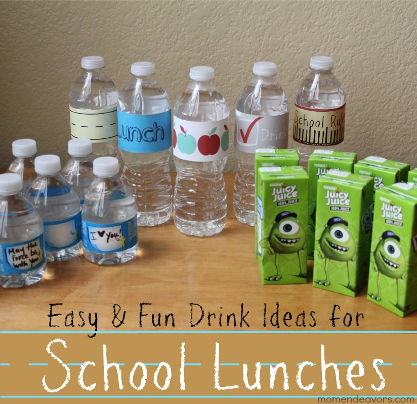 Drink Ideas for School Lunches #shop