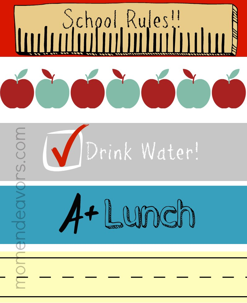 Free Printable School Themed Water Bottle Labels