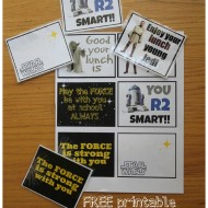 Star Wars School Lunch with FREE Lunch Box Printables