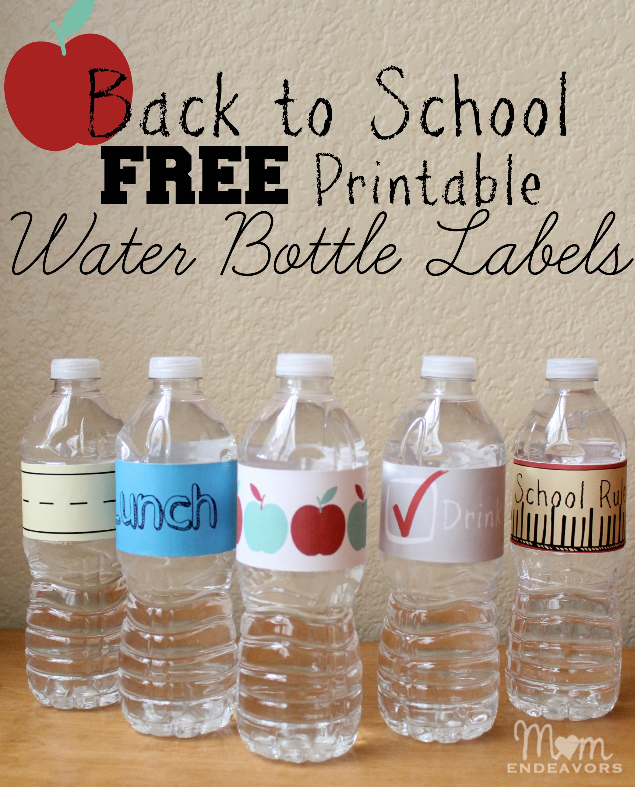 Hilaire image in printable water bottle labels