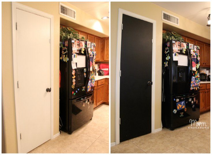 Pantry Door Chalkboard Paint