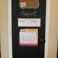 Back to Routine: Easy DIY Pantry Door Kitchen Command Center