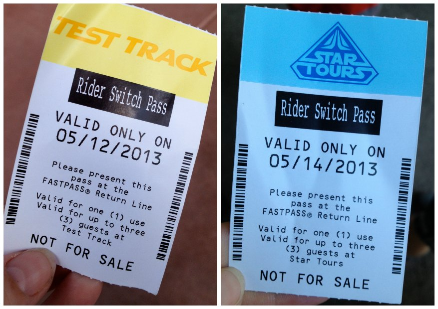 Rider Switch Passes at Disney