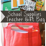 Teacher School Supplies Gift Bag #BagItForward #cfk