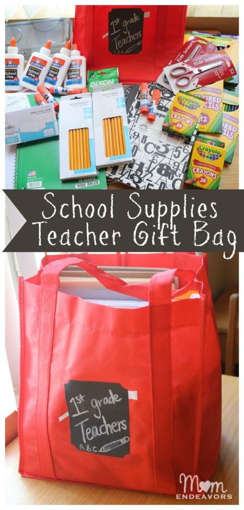 Classroom Equipment Ideas ~ Teacher school supplies gift bag bagitforward cfk