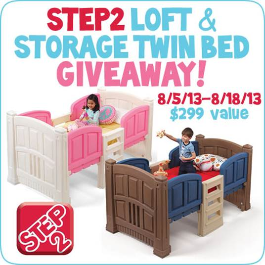 Step2 Loft Storage Twin Bed Giveaway